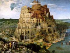 The Tower of Babel by Pieter Brueghel the Elder, Flemish painter © expired