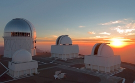 CTIO at sunset, (c) NOAO/AURA/NSF